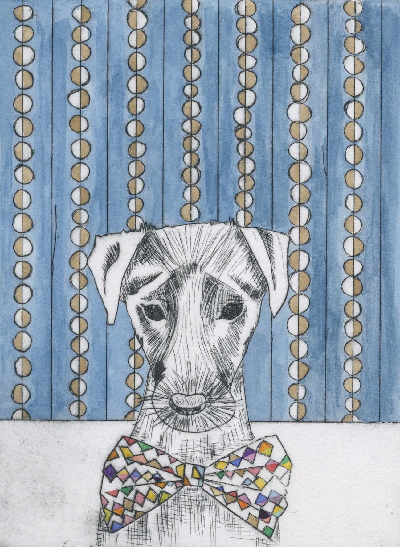 Dog  etching  20cm x 15cm  £95