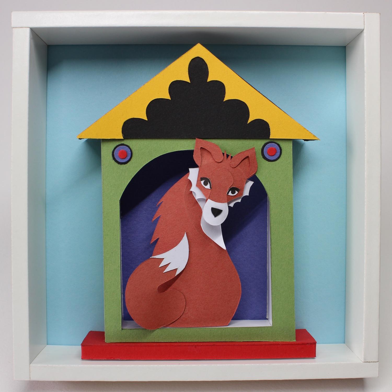 Fox House  papercut  £121 (framed)