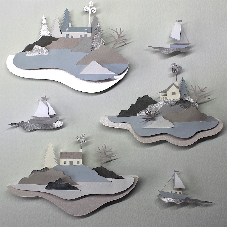 Islands in the Stream   papercut    sold