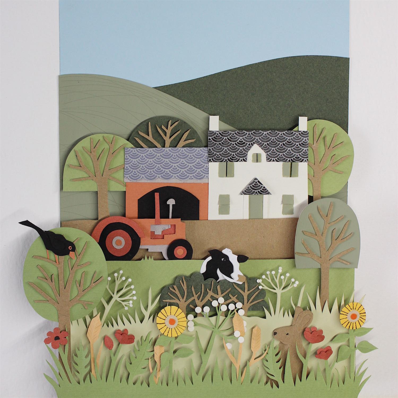 Roberts Farm   papercut   £308 (framed)
