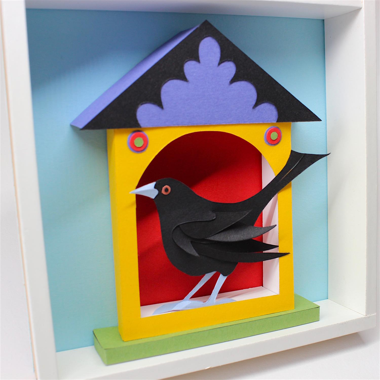 Blackbird House   papercut    £121 (framed)