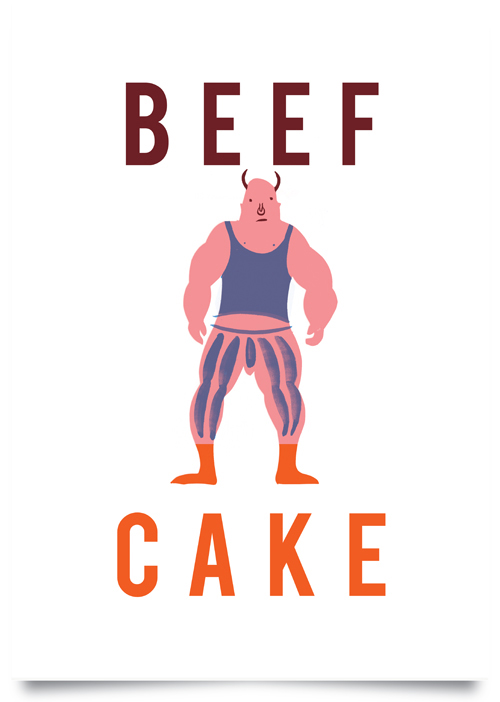 Beef Cake  screen print  £15 (unframed)