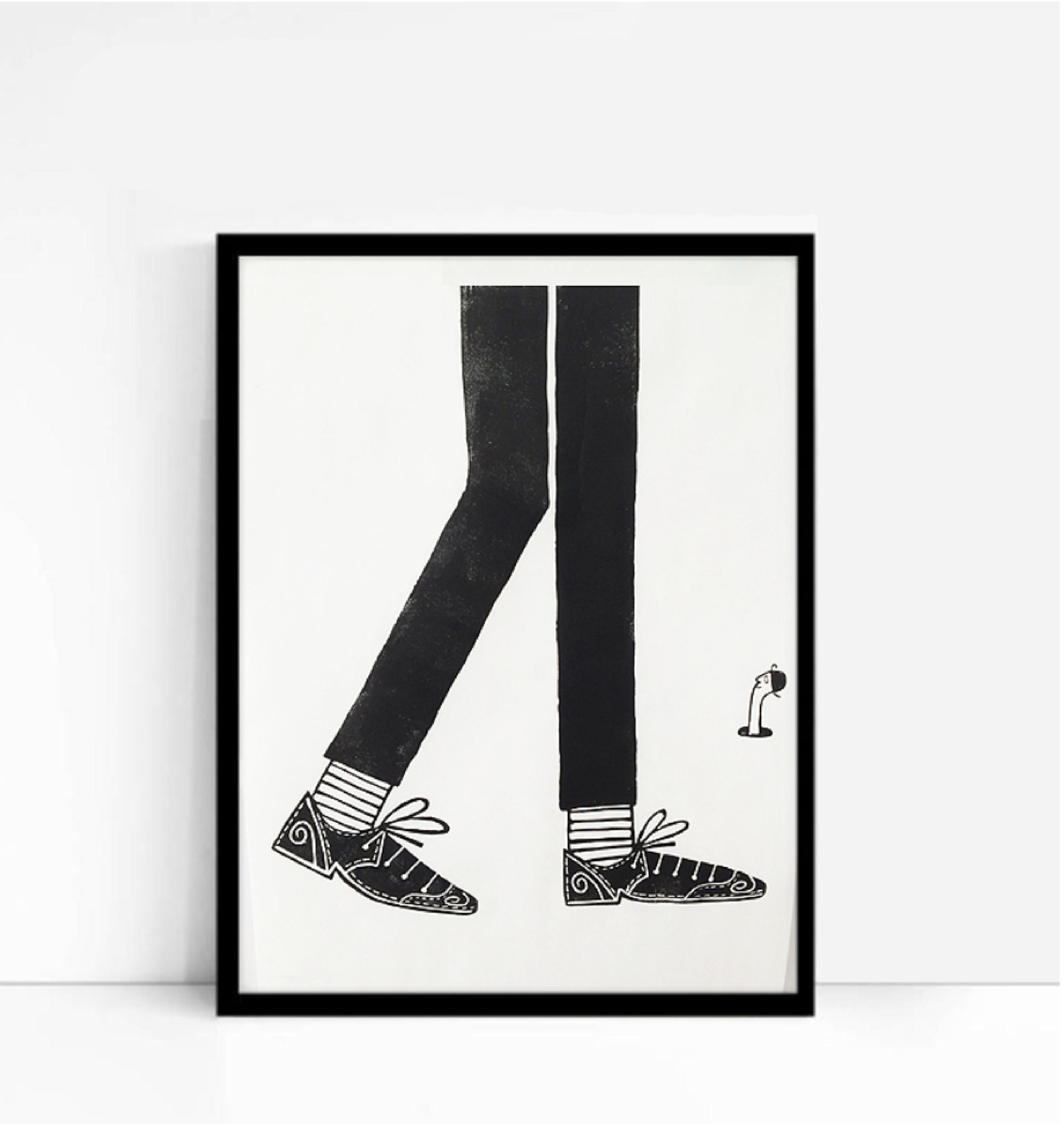 A Good Pair Shoes  linocut  50.5 x 36.5cm  £50 (unframed)