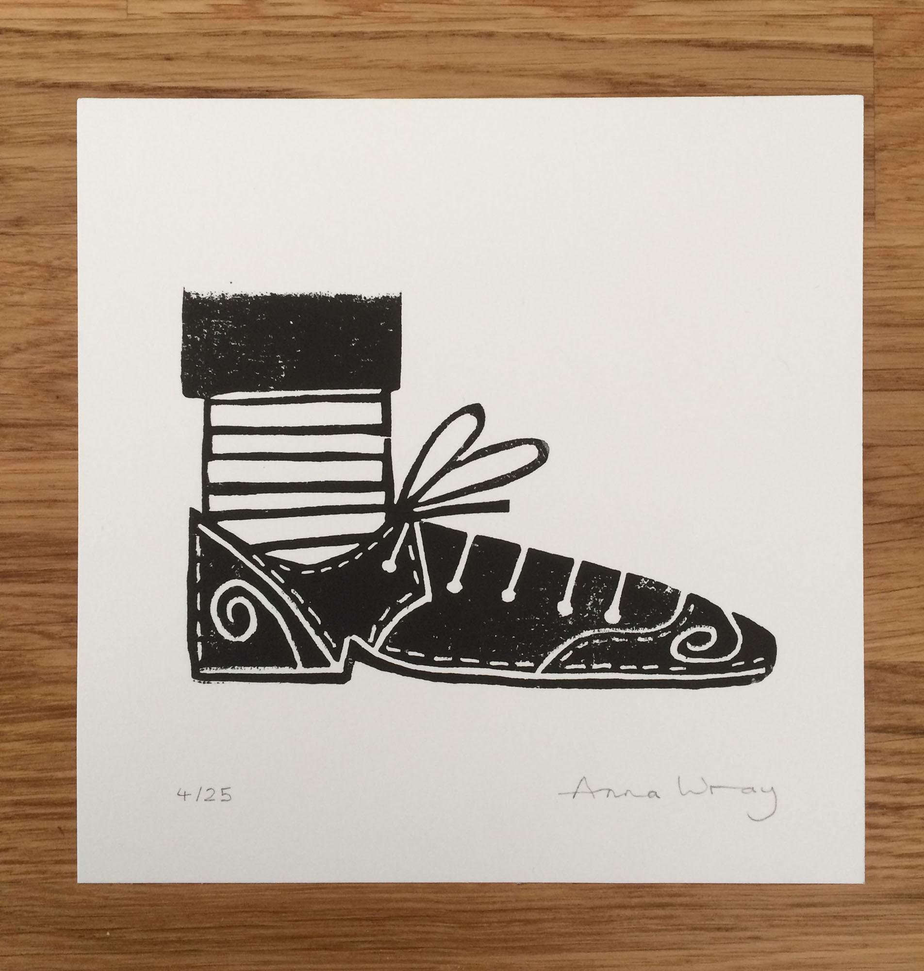 Mini Print Shoe  screenprint  13 x 13 cm  £20 (unframed)