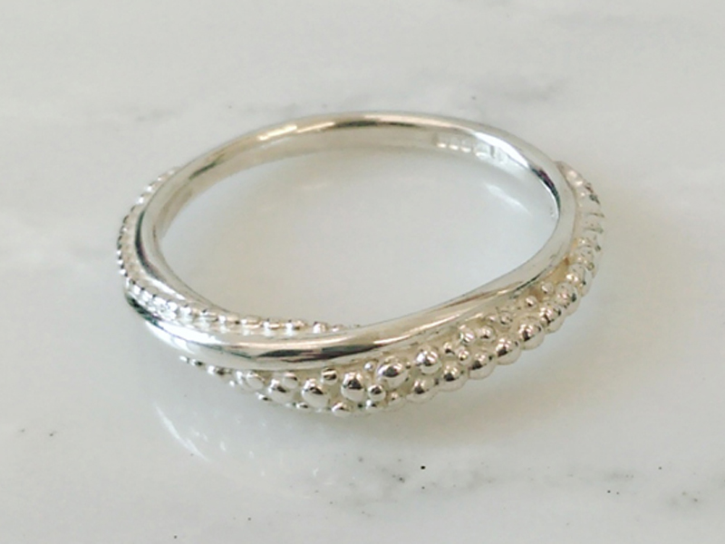 Wave ring  silver  £75