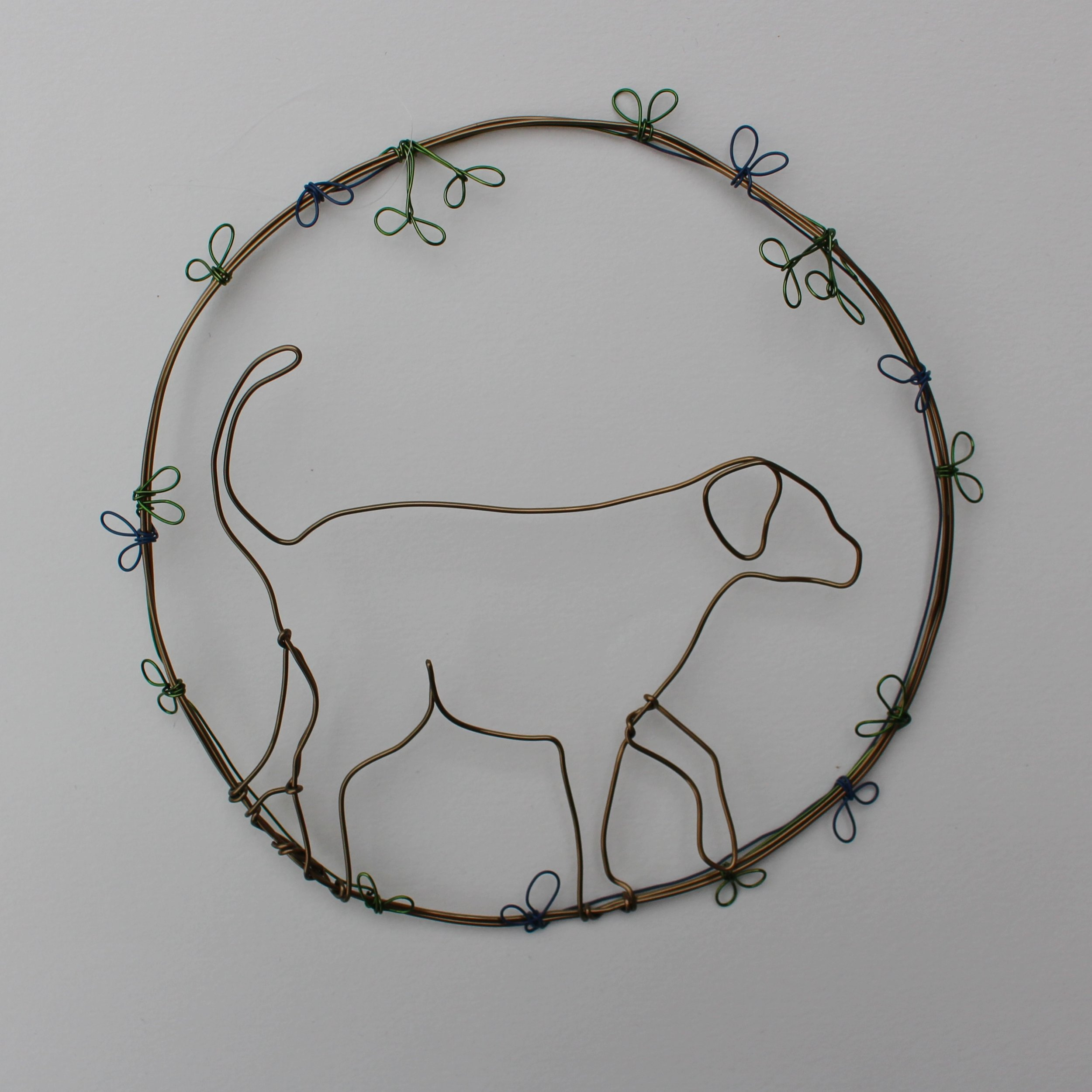 Walking Dog Decoration  copper wire