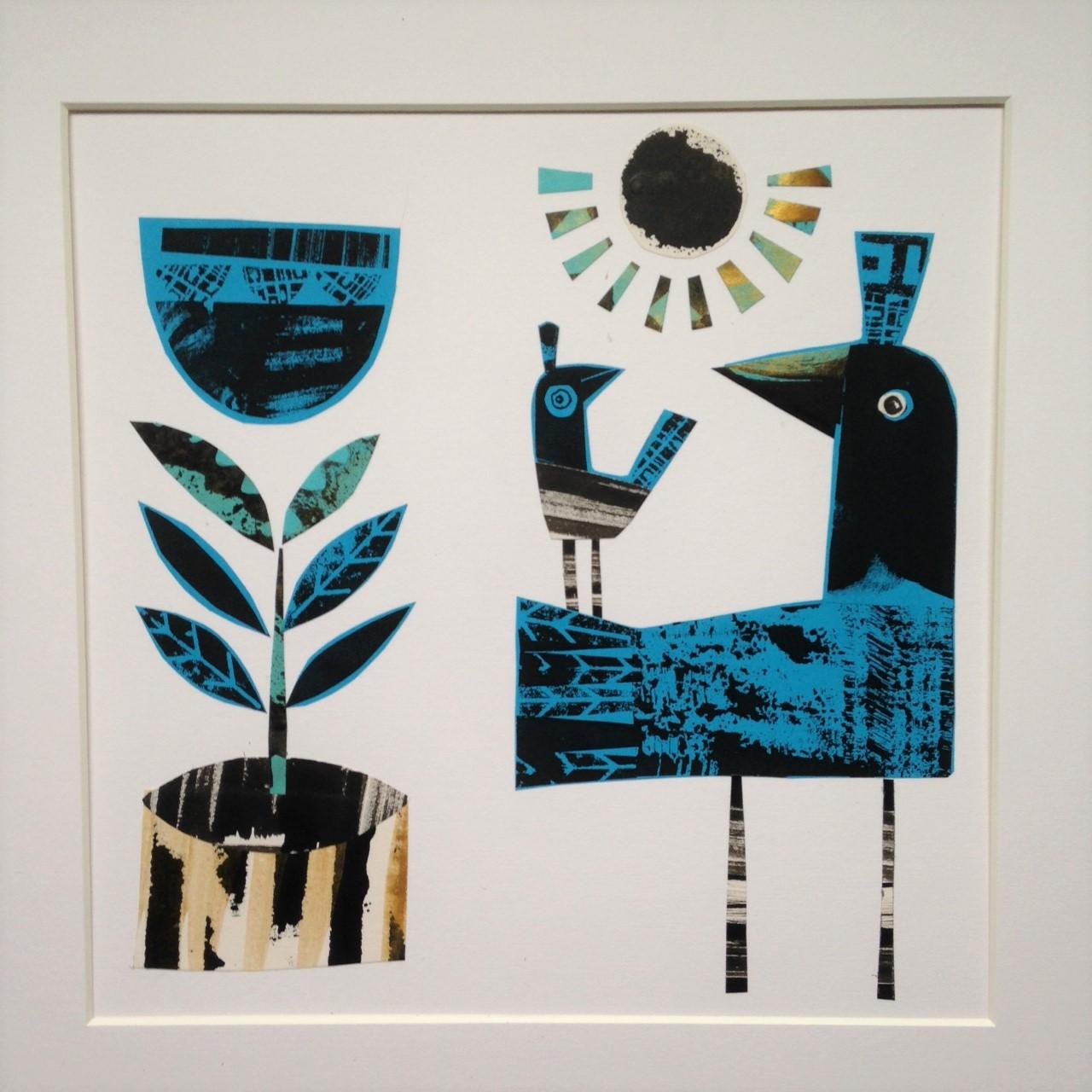 Good Morning  collage monoprint
