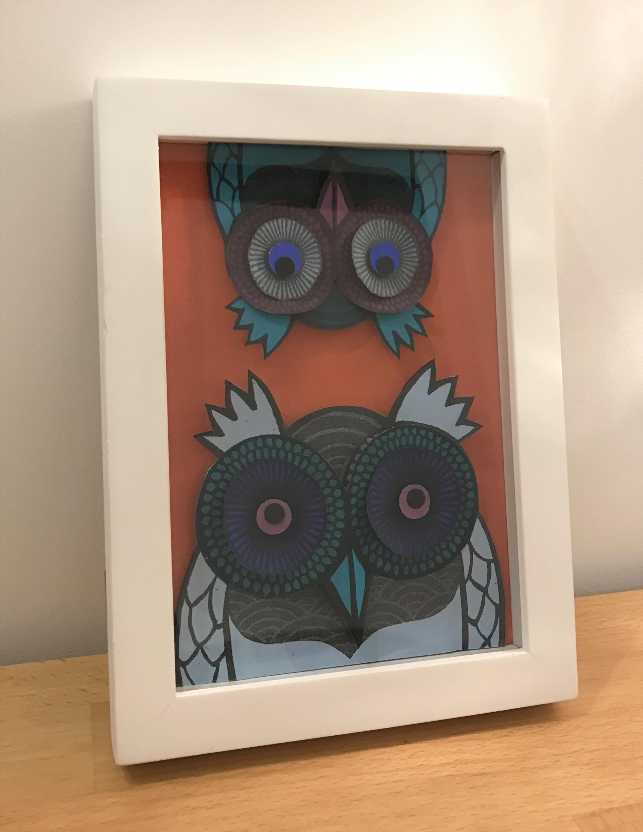 Big Owl, Little Owl  paper cut  £62