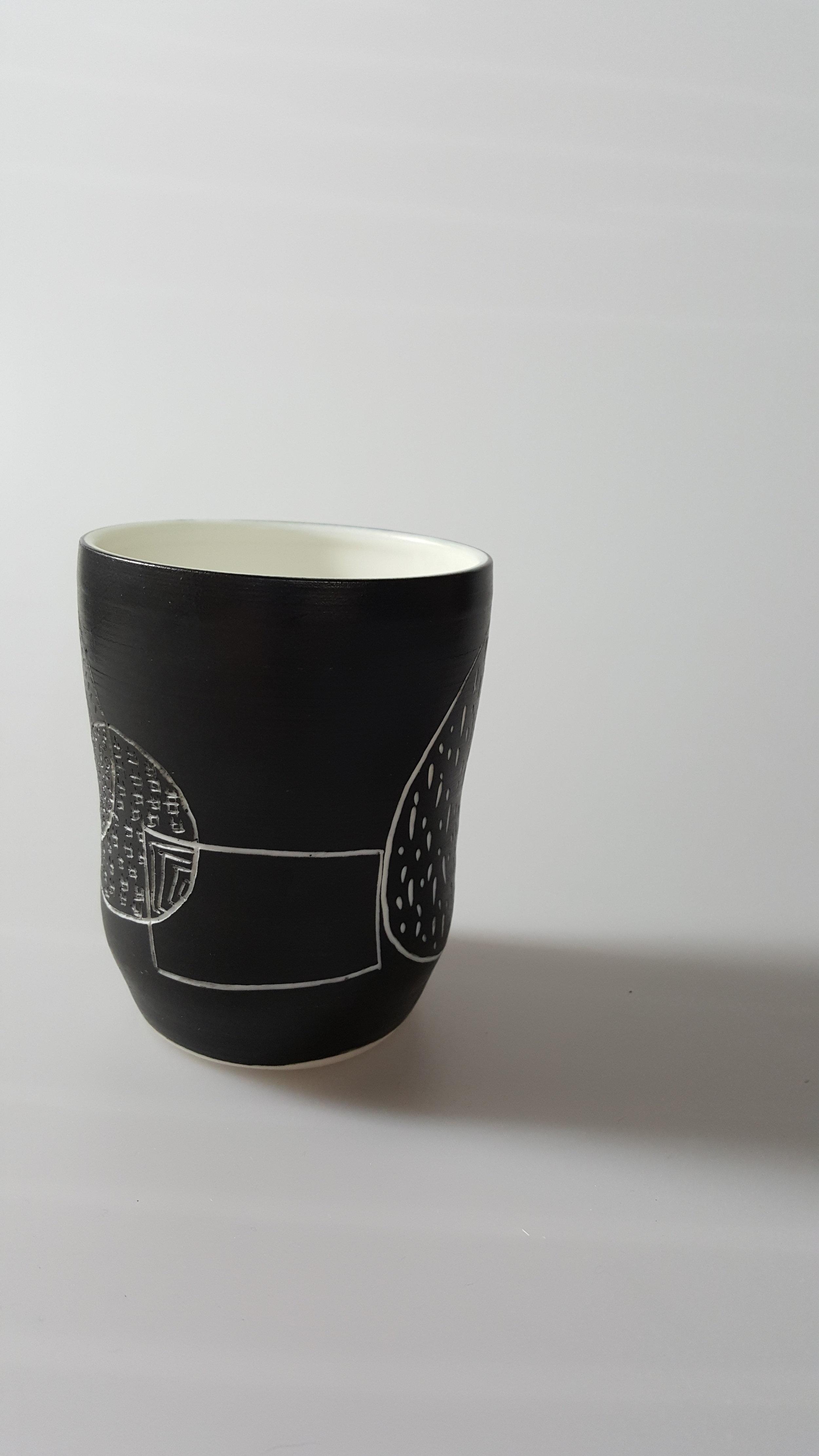 Tumbler with Drawing  ceramic  £30