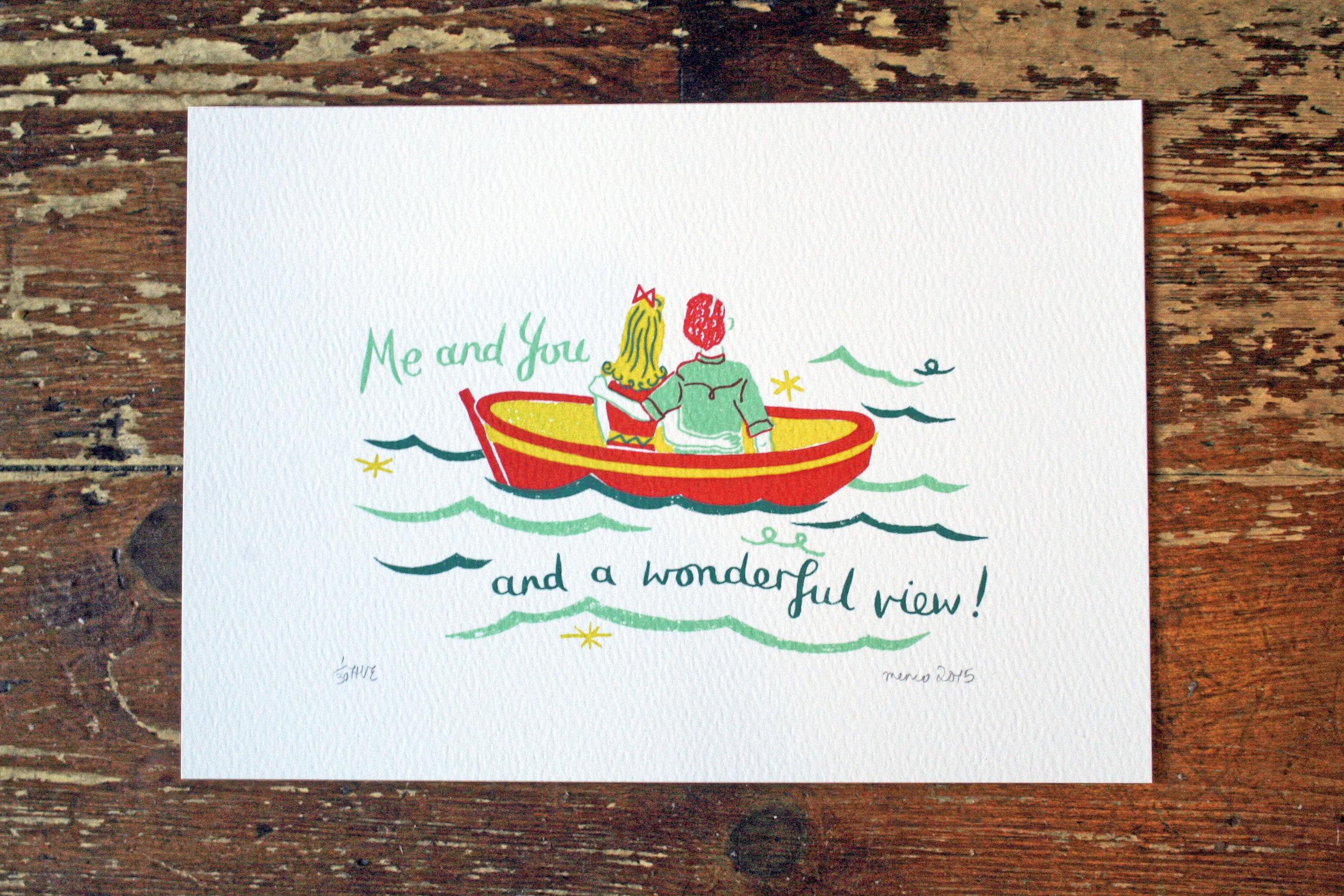 Wonderful View  screenprint  14 x 9 cm  £25 (unframed)