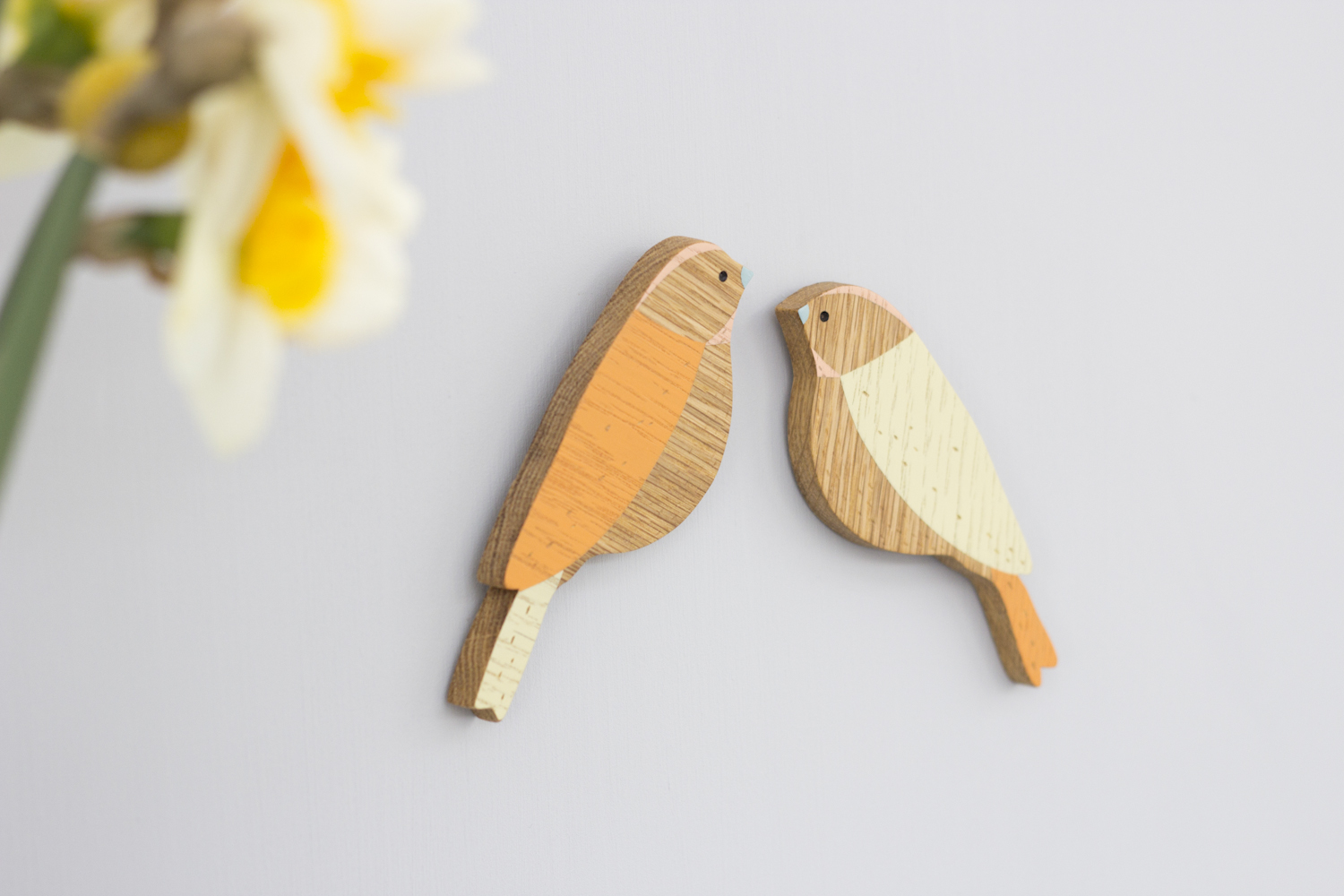 Anna Wiscombe  Bird Wall Hangings  wood  £18 each
