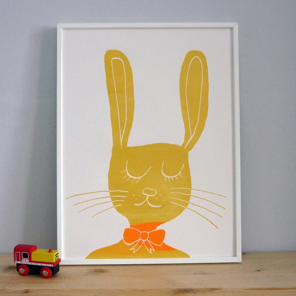 Mr. PS  Yellow Rabbit  screenprint  £20