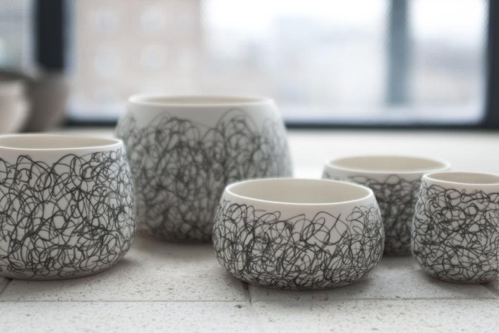 Scribble & Line Pots  Porcelain  Various Sizes  £22-£66