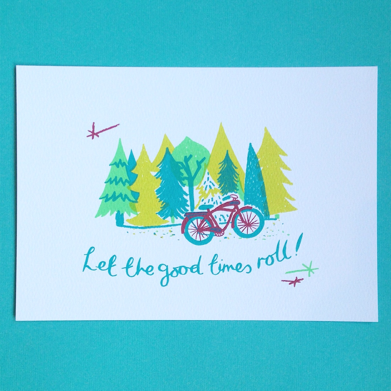 Let the Good Times Roll  screenprint  £25 (unframed)