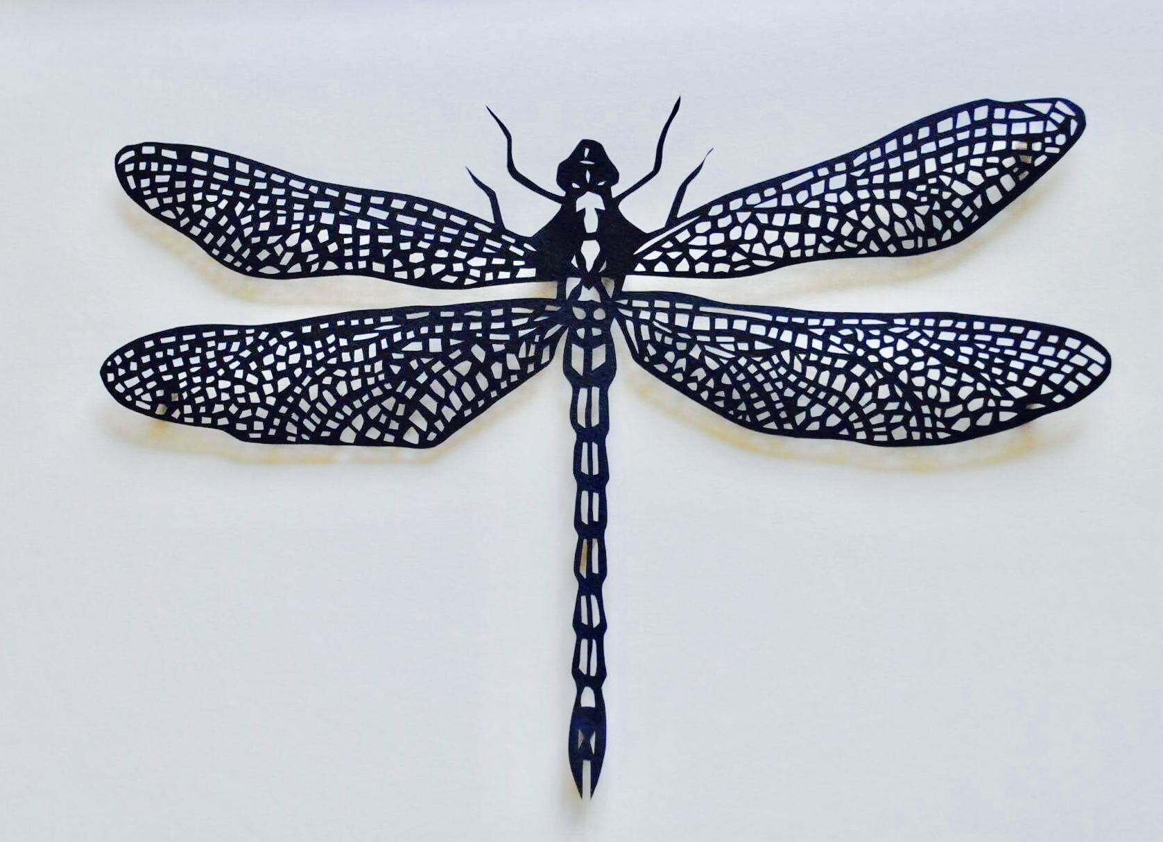'A Welsh Buzz?'  papercut  40cm x 30.5cm (framed)  £195