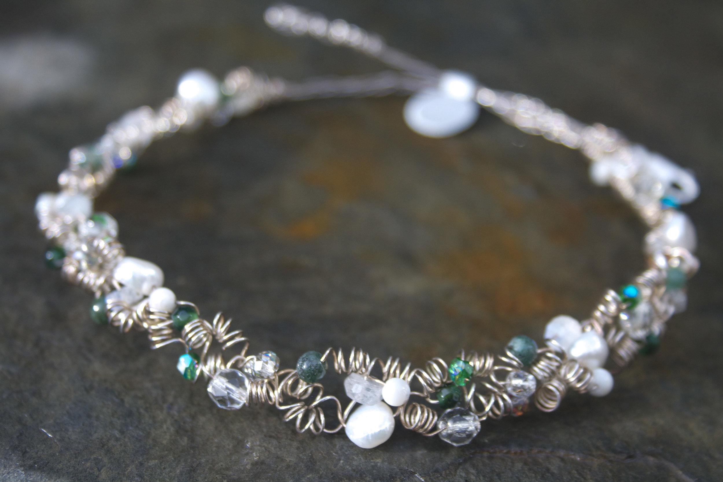 Aphrodite Forest Fine Silver Necklace  £95