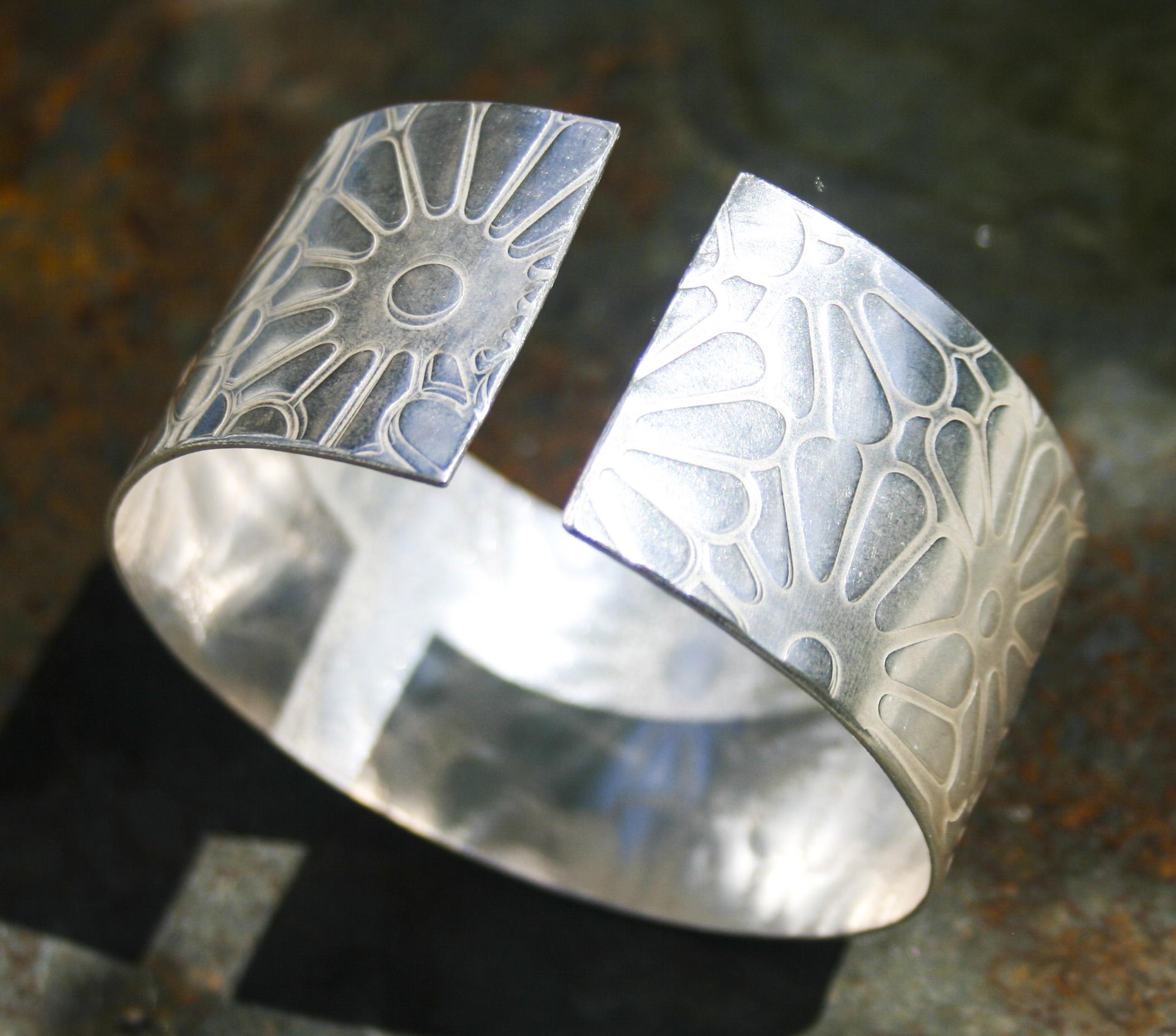 Meadow Solid silver Cuff  £175