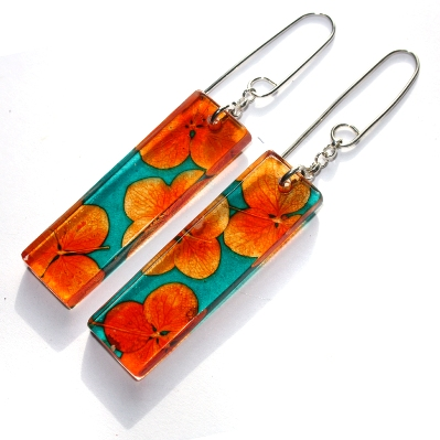 Rectangle Earrings  acrylic (made from 100% recycled materials)  £40