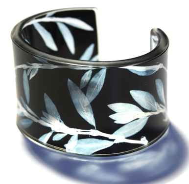 Cuff  acrylic (made from 100% recycled materials)  45mm across  £45/£48