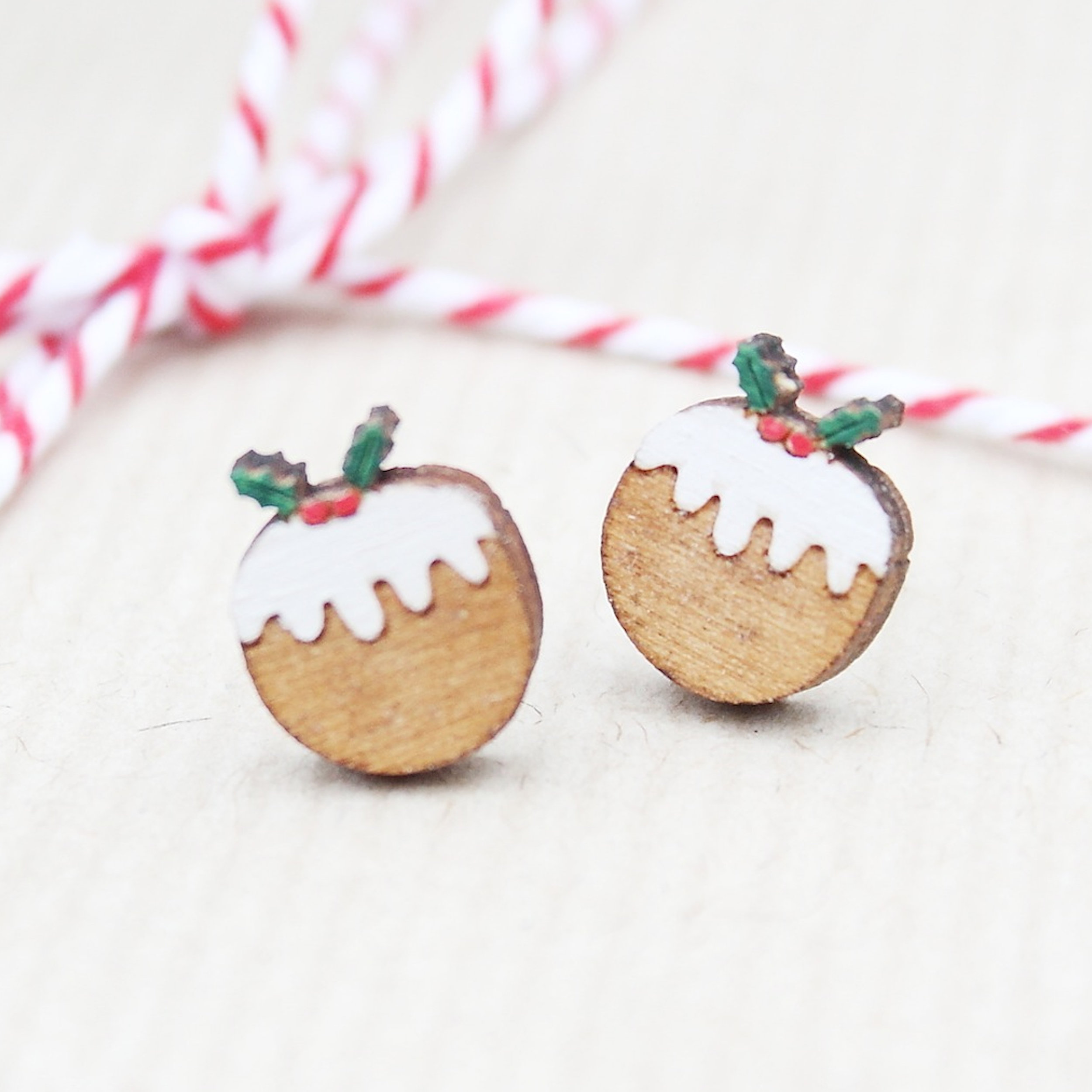 Christmas Pudding Studs  £12