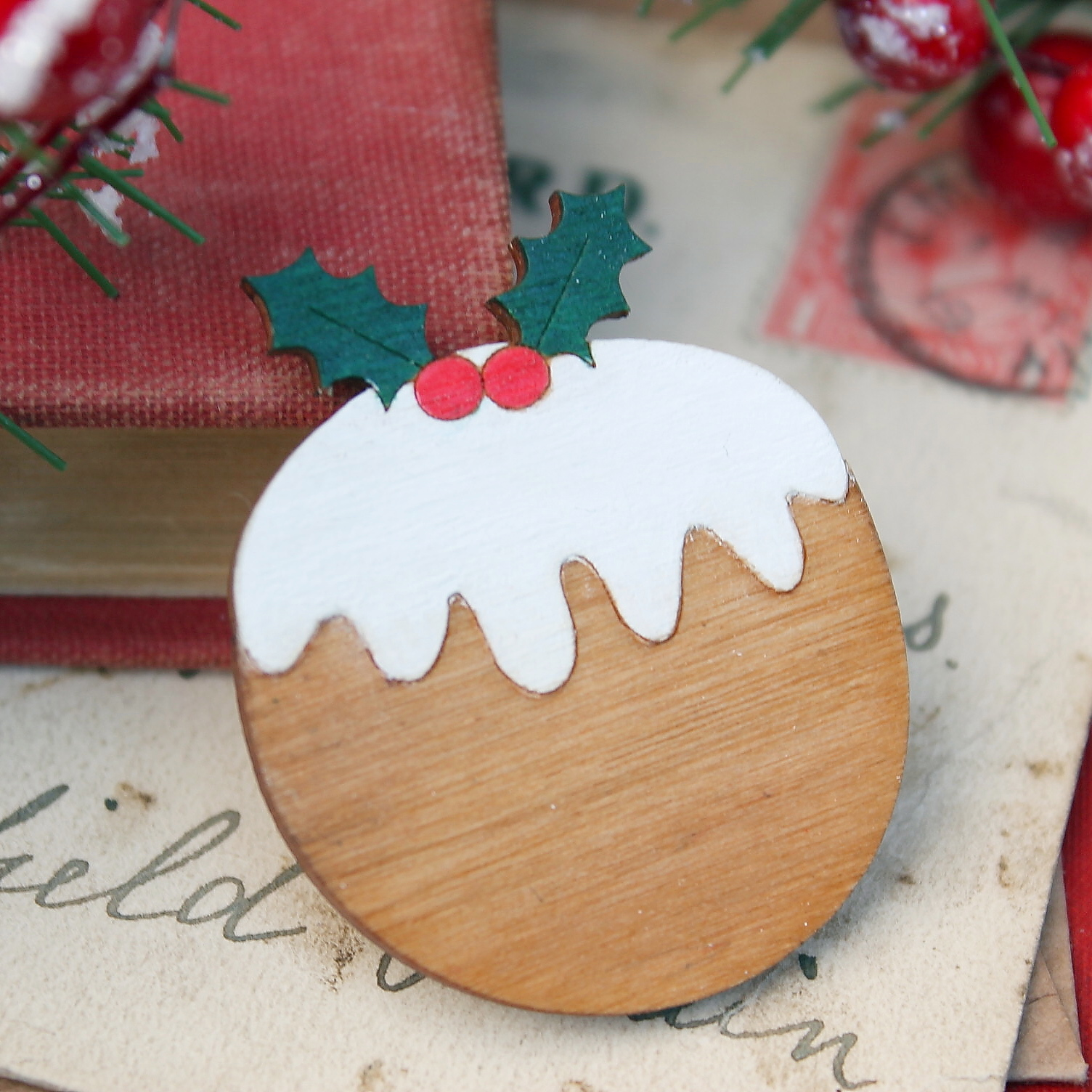 Christmas  Pudding Brooch  £12.50