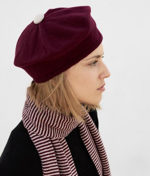 Knitted Beret in Current £40 Long Striped Scarf in Current £74.jpg