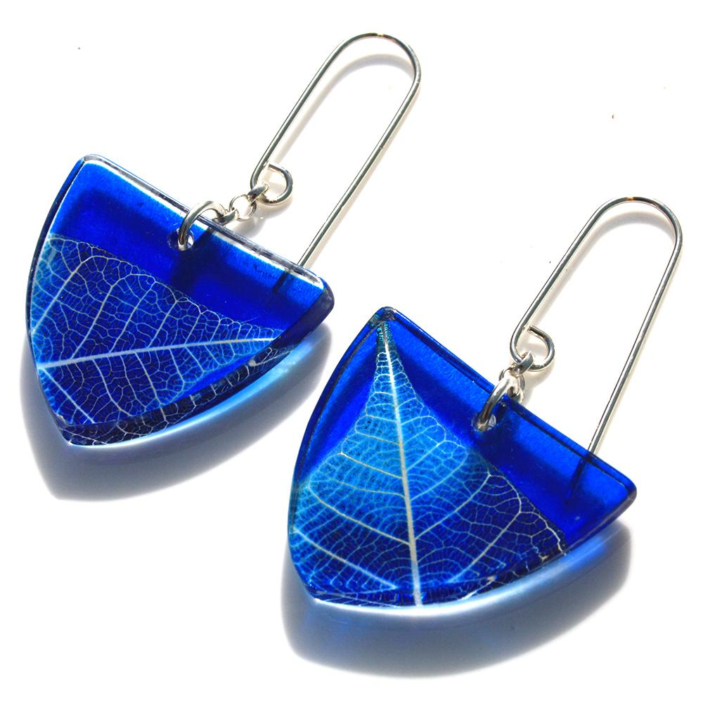 Triangle Earrings  acrylic (made from 100% recycled materials)  £40