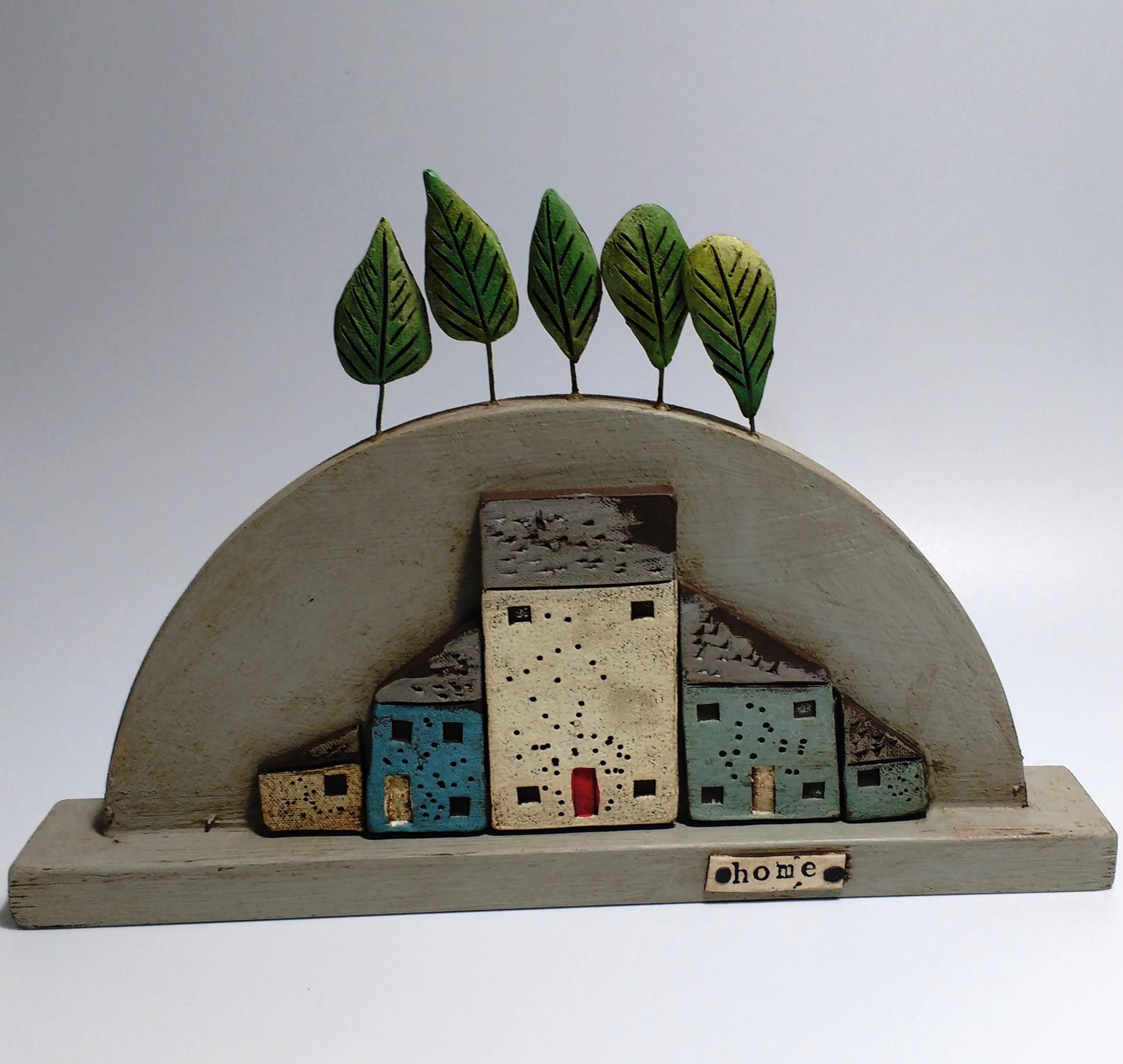 Big Hill House  Ceramic on Wooden Plinth  £54