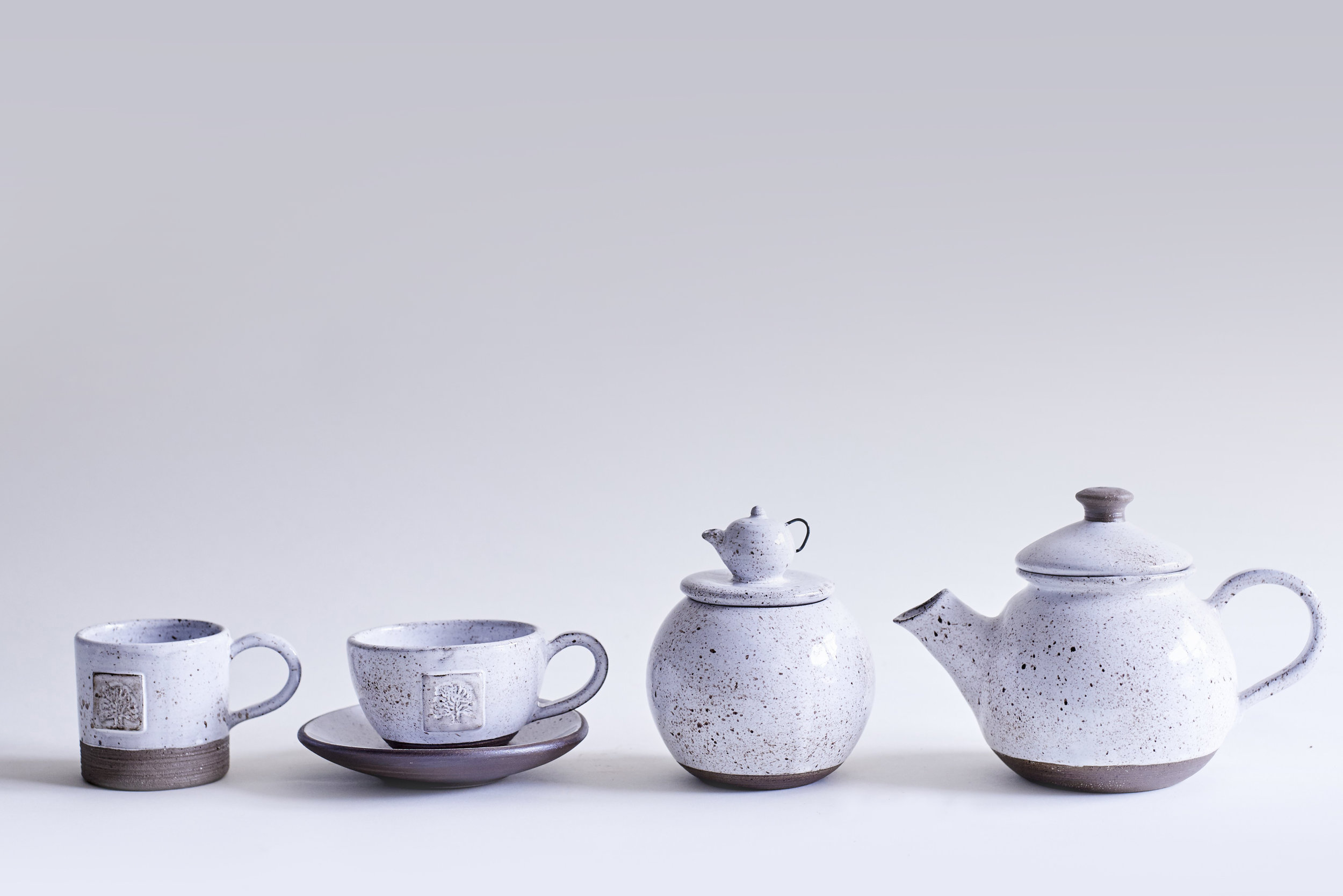 Goose Egg  Coffee Cup £30  Tea Cup £35  Sugar Container £90  Teapot £120