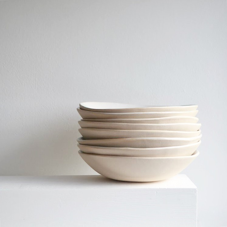 Medium Pearl Glacier Bowls  ceramic   4 x 18 cm approx.   £40