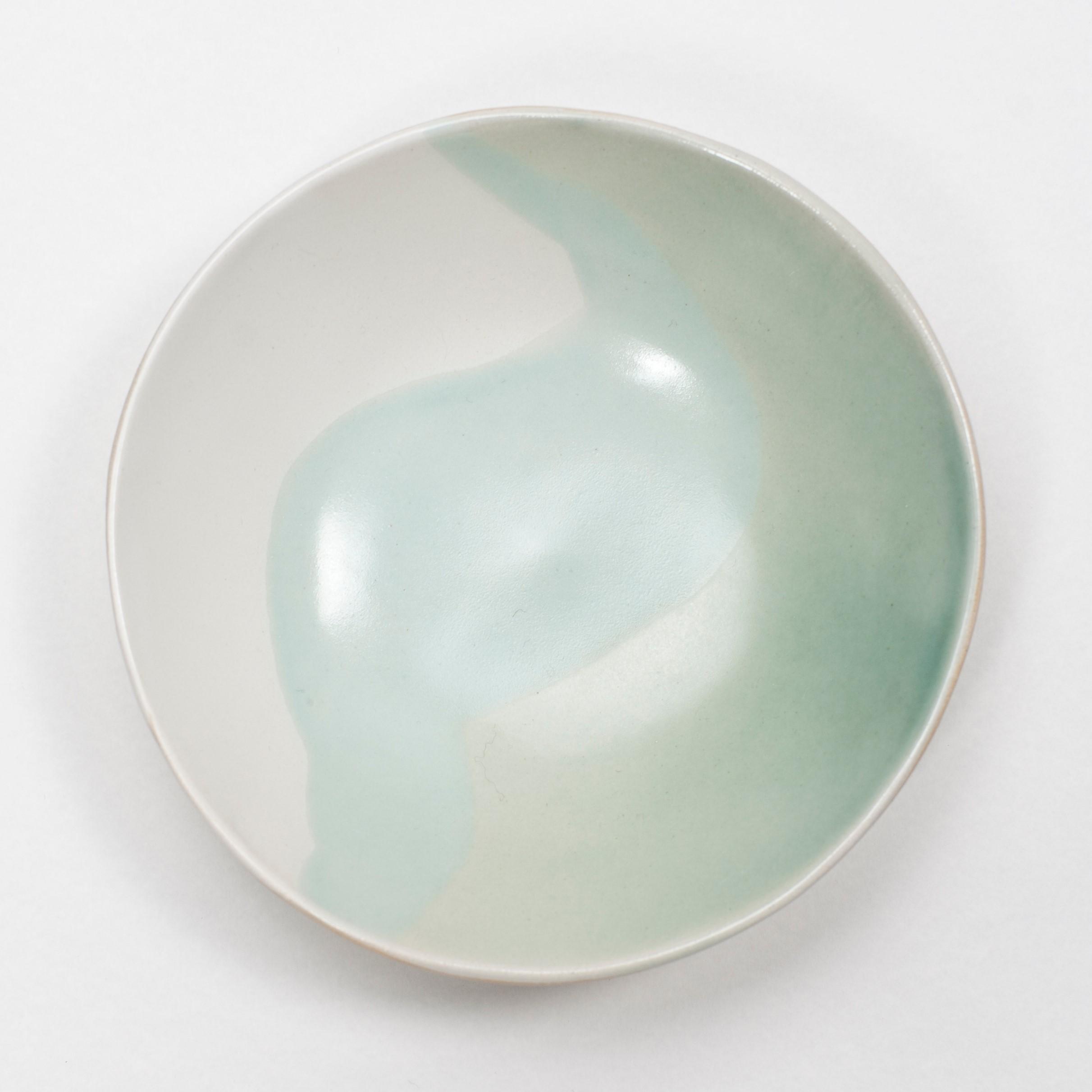 Medium Turquoise Glacier Bowl  ceramic  5 x 19 cm aprox.  £40