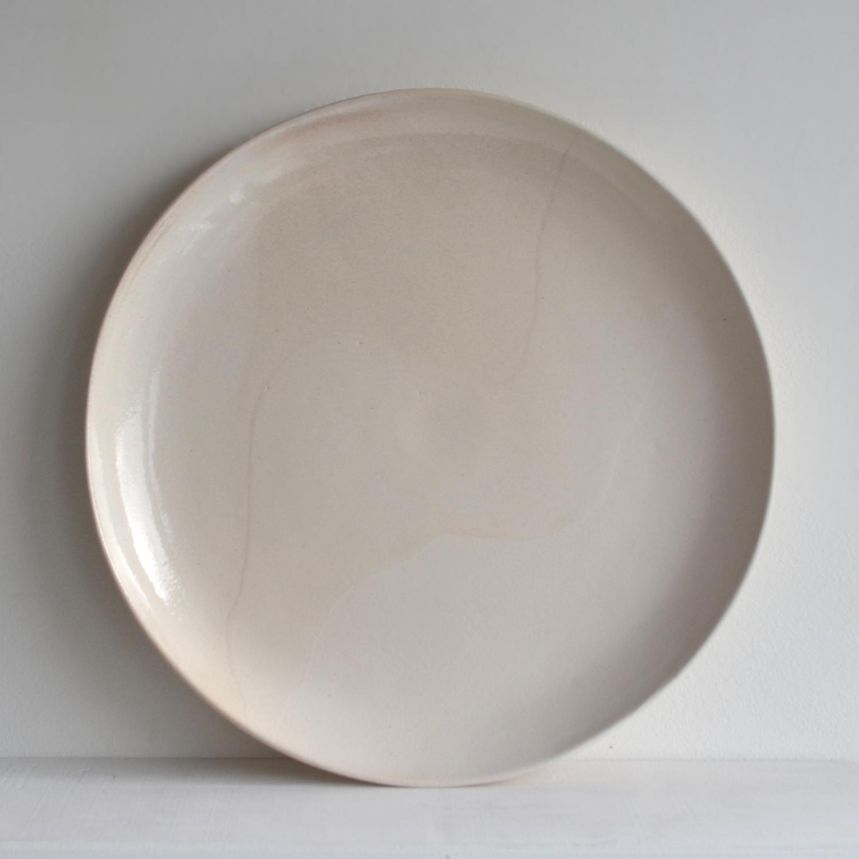 Large Pearl Glacier Plate  ceramic  3 x 25 cm approx.  £48