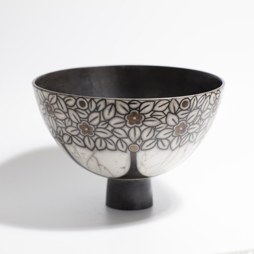 Large Bowl  raku ceramic  13 x 19.5 cm  £120