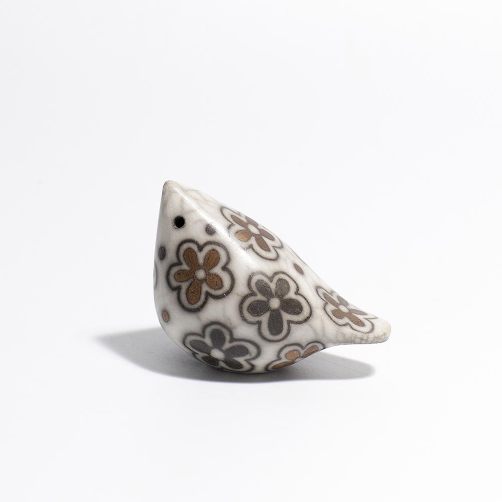 Small Bird  raku ceramic  4 x 7 cm