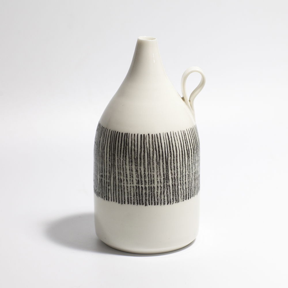 Monochrome Bottle  Ceramic  16 x 8 x 8cm  £80