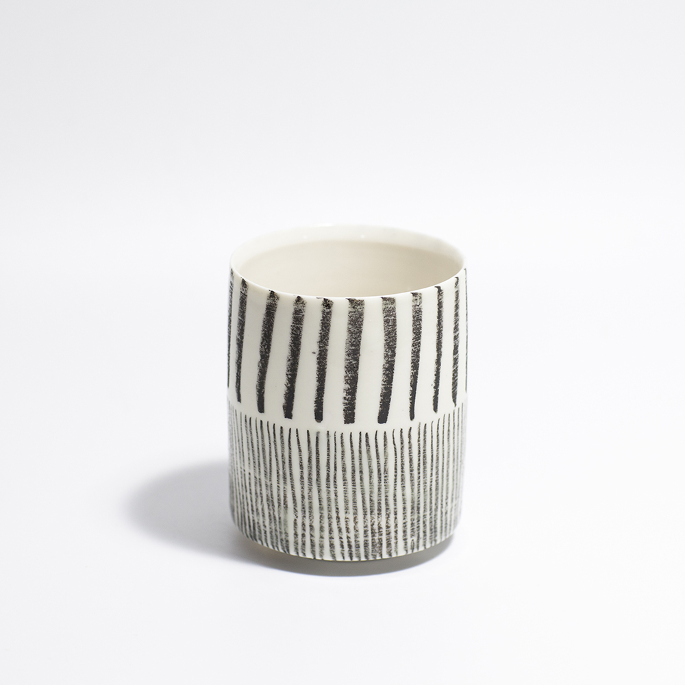Monochrome Tea Bowl  Ceramic  9 x 7 x 7cm  £48