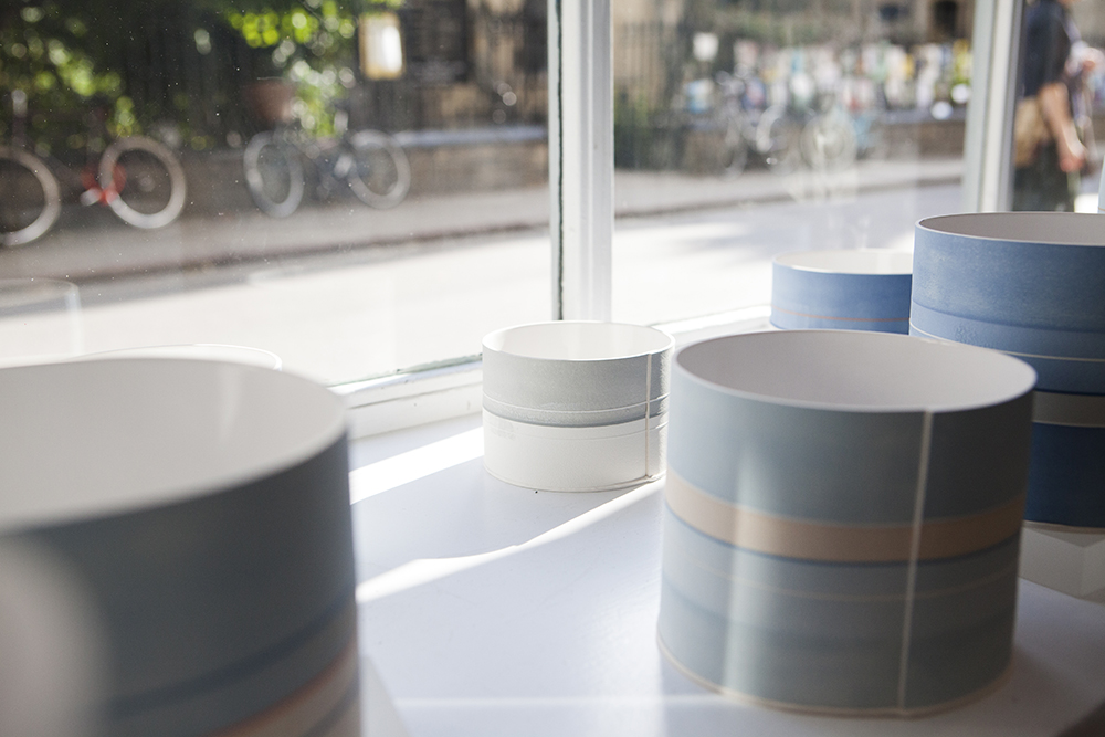 Rachel's vessels on display at cambridge contemporary crafts