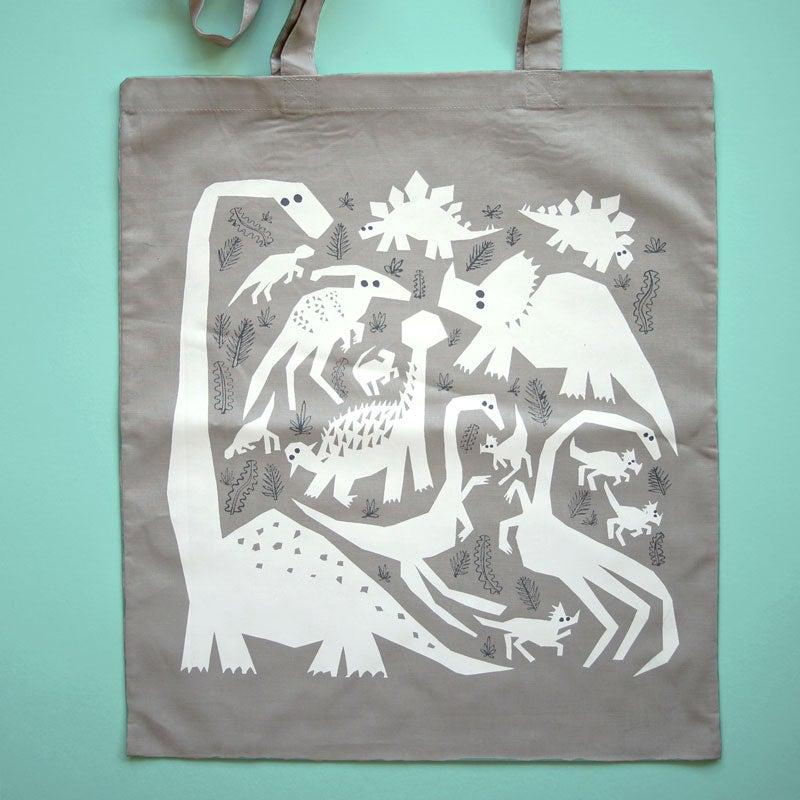 Herbivores 2 Tote bag  38cm x 43cm  Screen printed onto light 100% cotton  £10