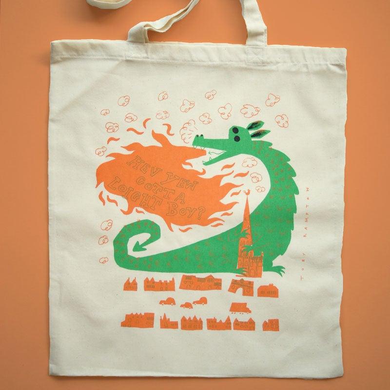 Narwich Tote bag  38cm x 43cm  Screen printed onto light 100% cotton  £10