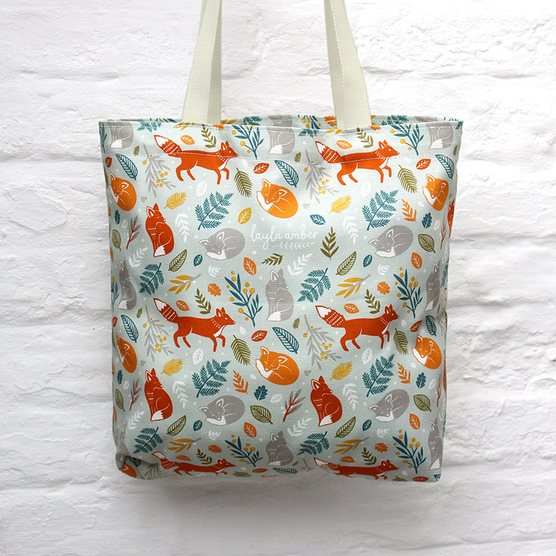 Foxes in the Forest Bag  cotton  37 x 37 cm  £22