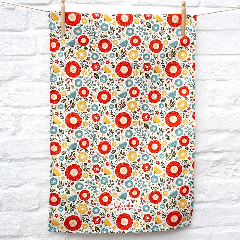 In Bloom Tea Towel  cotton  70 x 50 cm  £13.50