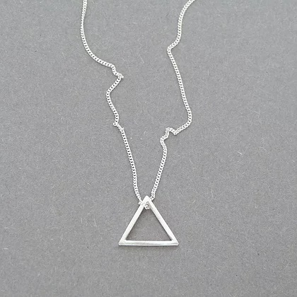 Small Triangle Necklace  sterling silver  1 cm  £35