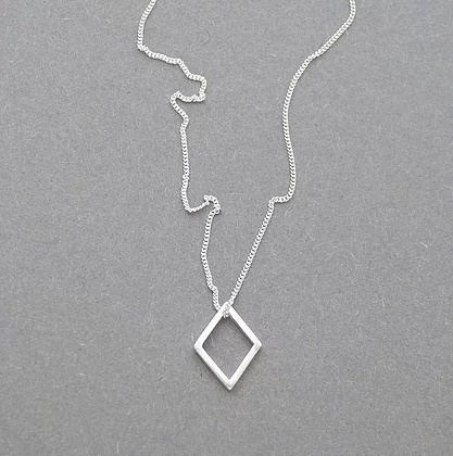 Small Diamond Necklace  sterling silver  1 cm  £35