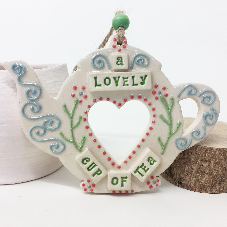 Folk Art Teapot  ceramic  13.5 x 10 cm  £12 each