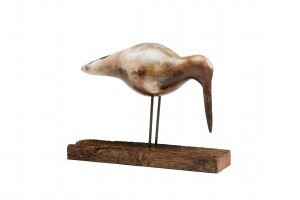 Oyster Catcher  ceramic and wooden stand  23 x 34 cm  £220