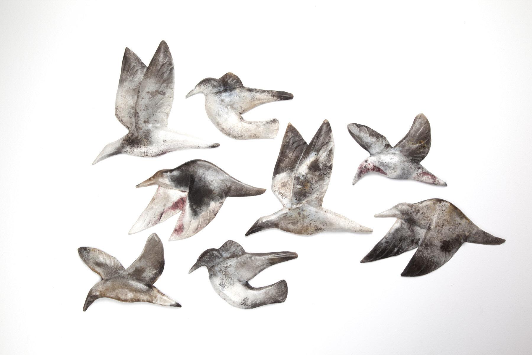 Wall Mounted Birds  ceramic  13 - 21 cm  £48 each