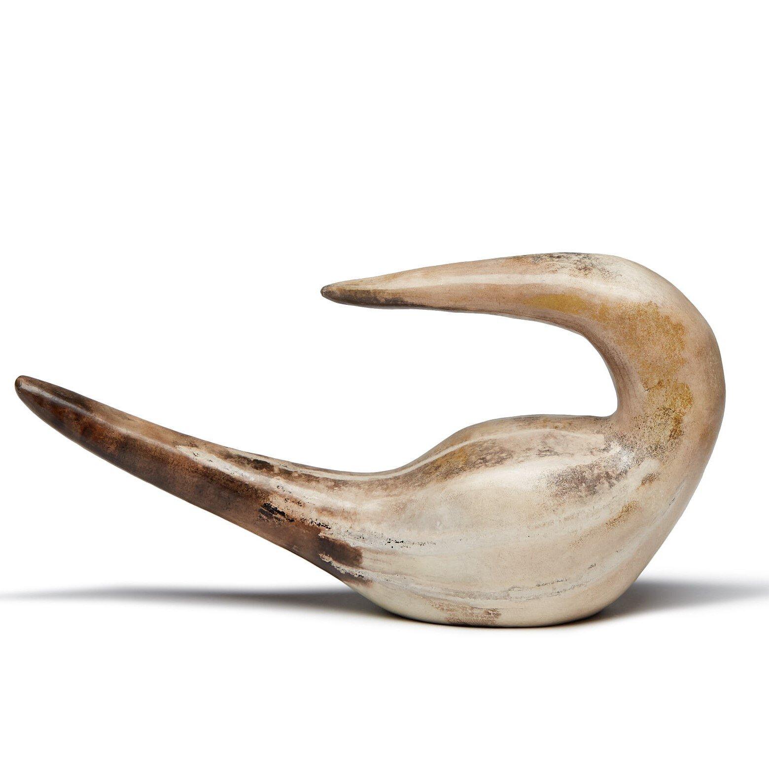 Turning Gannet  ceramic  11 x 25 cm  £103