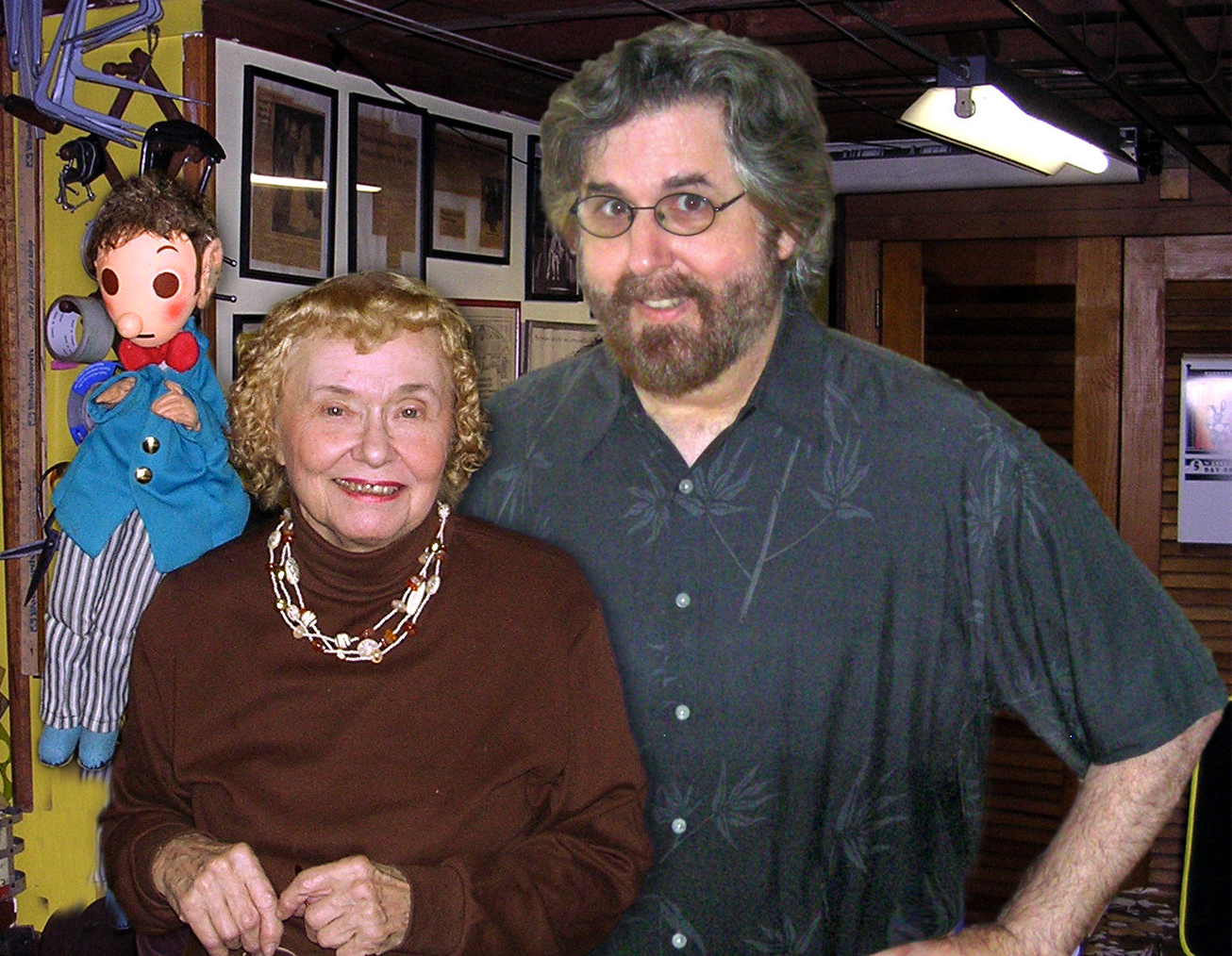 With Carol Fijan, author of Making Puppets Come Alive