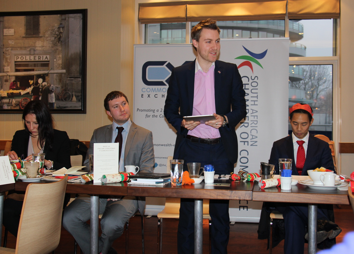 CX speaking at the South African Chambers - Dec 2013