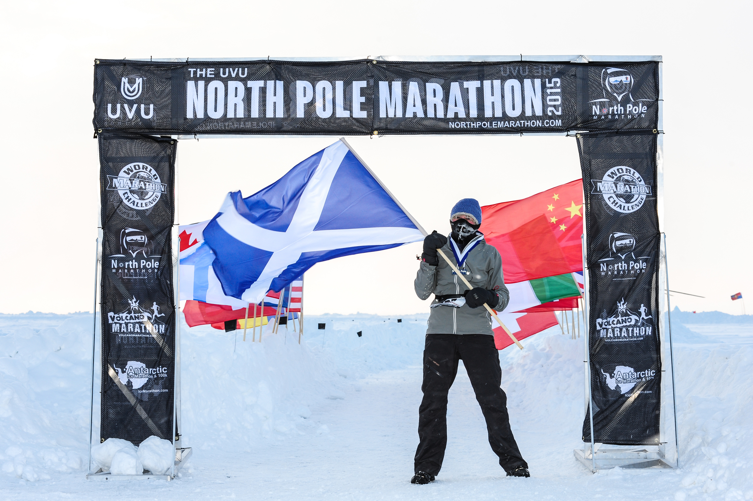North Pole Marathon Finish Line: photo Mark Conlon copyright  www.npmarathon.com
